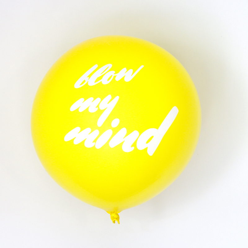 large yellow balloon