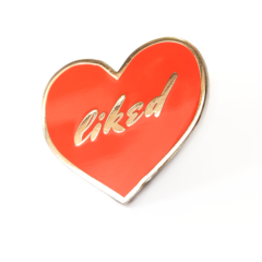 heart shaped red pin